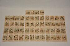 Quartett um 1890 Kartenspiel aus der Kaiserzeit Karikatur Humor Sprüche Antik