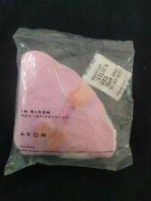 New! Avon In Bloom Nail Manicure Kit Clipper Scissors Buffer Emery Board w/Case