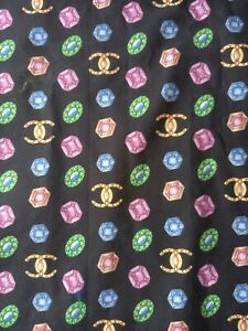 AUTHENTIC DESIGNER MADE IN ITALY PURE COTTON STRETCH FABRIC CM 150X140