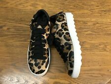 COACH LOW TOP LEATHER LACE UP WILD BEAST PRINT WOMENS SNEAKER SHOES NEW SIZE 10