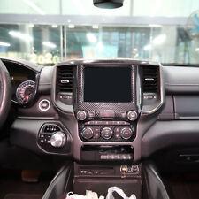 For Dodge RAM 1500 Pickup 2019 2020 ABS Carbon Navigation Frame Cover Trim 1pc