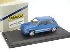 Paradcar 1/43 - Renault 5 Supercinq GT Turbo  Bleue