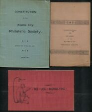 Alamo Philatelic Society 1892/1894 Membership Booklet & 2 Constitutions
