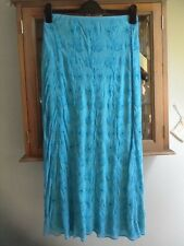 Boden turquoise silk maxi skirt UK 10