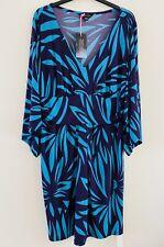 SIMPLY BE ANNA SCHOLZ KIMONO Style Dress Sz 18 Turquoise/purple  BNWT stunning
