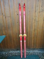 """OLD HICKORY Wooden 69"""" Skis with Original RED Color Finish Great Decoration"""