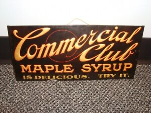 Circa 1930s Commercial Club Maple Syrup TOC, Duluth, Minnesota