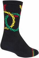 SockGuy Connected Crew Socks - 6 inch, Black/Multi, Small/Medium