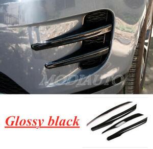 FOR 2020 Land Rover Range Rover Evoque black Front Fog Lamp Trim Cover Strip 4PC