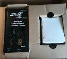 Transition Networks S3100-4040 Multi-Rate Fiber Repeater S3100 - New, 30 Day Wty