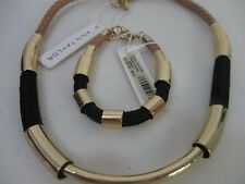 Ann Taylor Braided Cord and Rope Necklace Bracelet Set of 2 NWT 59.50 49