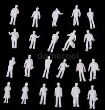 Lot Of 100 Model Train People Figures 1:100 Scale HO White US Seller