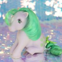 Vintage My Little Pony SEASHELL Sitting Purple Green Sea Shells G1 MLP BC058