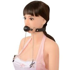 Adult Sex Party O Ring Mouth SM Ball Gag with Lock and Nipple Clamps kit