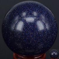 30MM 40MM 50MM Wholesale Natural BLUE GOLDSTONE SAND Sphere Crystal Reiki Ball