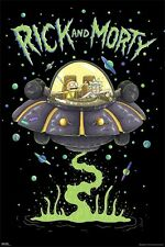 Rick And Morty - Ship POSTER 61x91cm NEW * spaceship flying saucer