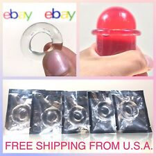 (5) Soft Stretchy Penis Cock Ring Long Hard Erection Enhancer Prolong Sex Toy