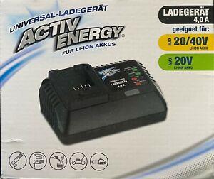 Activ Energy Universal Akku Ladegerät für FERREX Li-Ion Akku