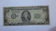 100 american dollar bill from 1934