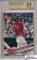 2017 Topps # 283 Andrew Benintendi ROOKIE VARIATION BGS 9.5 GEM MINT Red Sox
