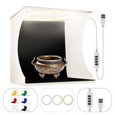 Double LED Light Room Photo Photography Lighting Tent Kit 6 Backdrops Box Cube
