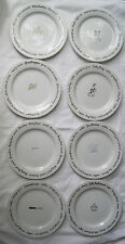 POTTERY BARN BAR LINGO PORCELAIN DESSERT PLATES - COMPLETE SET OF 8