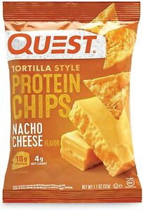 QUEST NUTRITION Protein Chips, 12 Bags (32 g Each),  5 Flavours