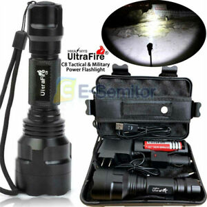 Super-Bright 150000LM Tactical Flashlight Military T6 LED Torch Flashlight 18650