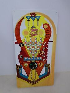 Bally Strikes And Spares Pinball Playfield Metal sign
