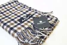 Aquascutum Scarf 100% lambswool BRAND NEW Winter Check Tartan scarf RRP £129.99