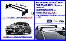Barre Portatutto Portapacchi Acciaio - Fiat Bravo 5 porte 2007>2014 Menabò Tema