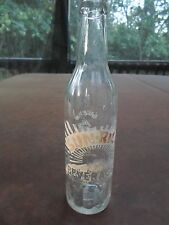 King Sunrise soda bottle 12 fl oz/RC Royal Crown Cola 10 fl oz.