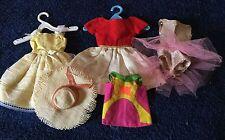 Vintage Barbie Skipper Doll Lot of 5 Dresses Ballet Hat Chris Dress~Fair to Poor
