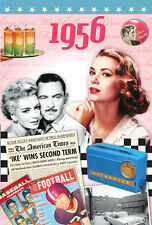 61st Birthday Gifts 1956 Time of Your Life Retro News DVD Greeting Gift Card