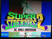 Neo Geo MVS cartridge SUPER SIDEKICKS 2 Arcade pcb ORIGINAL