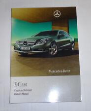 Owner's Manual Mercedes Benz E-Class Cabrio / Coupé C207 A207 Stand 11/2009