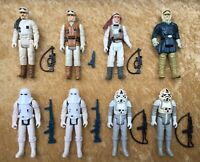 Vintage Star Wars 1980 Hoth Figure Lot ESB Han Solo w/ Original Weapons