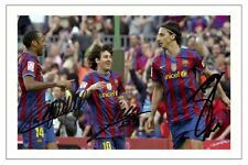 LIONEL MESSI THIERRY HENRY IBRAHIMOVIC BARCELONA AUTOGRAPH SIGNED PHOTO PRINT