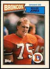 Rulon Jones #8 Denver Broncos TOPPS 1987 SCHEDA DI FOOTBALL AMERICANO (C552)