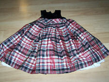 Size 3T Perfectly Dressed Christmas Holiday Dress Red Black Plaid Velour Bodice