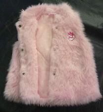 NWT Barbie Licensed Girls Heart Ballet Shoes Faux Fur Vest Jacket Size 5 6 7