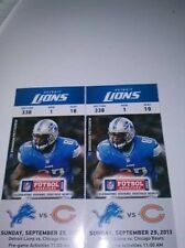 2013 CHICAGO BEARS VS DETROIT LIONS TICKET STUB 9/29/13 CALVIN JOHNSON CUTLER
