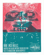 NINE INCH NAILS/ GODSPEED  YOU BLACK EMPEROR THE TENSION TOUR 2013 GIG POSTER
