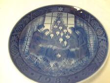 Royal Copenhagen Merry Christmas 1983 Glade Jul Porcelian 75th Anniversary Plate