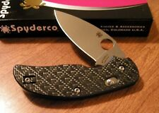 SPYDERCO New Carbon G-10 Handle Sage With Plain Edge S30V Bld Knife/Knives