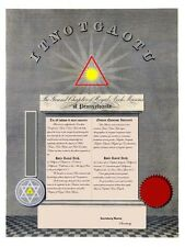PERSONALIZED Masonic Royal Arch Chapter Certificate ring art record YORK RITE