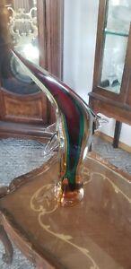 "Murano Italy ""Oscar Zanetti"" Leaping Dolphin Art Glass Statue"