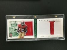 2013 Panini Playbook Rookie Jerseys Prime Green #230 Quinton Patton 5/5 49ERS