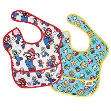 Bumkins Nintendo Super Mario Classic/Icons SuperBib 2pk (6-24 Months) Baby Bib
