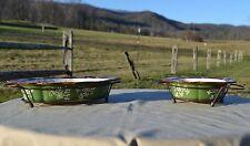 Temp-tations Floral Lace Set of 2 Framed Edge Baker Set - Green